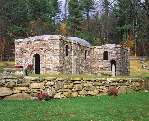 Replica of Our Lady of Ephesus House of Prayer is under construction in Jamaica, Vermont